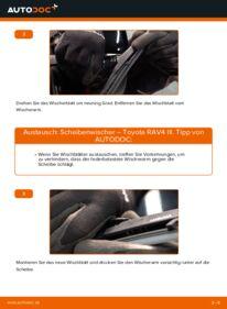 Wie der Wechsel durchführt wird: Scheibenwischer 2.2 D 4WD (ALA30_) Toyota RAV4 III tauschen