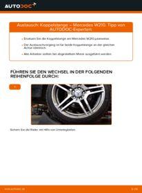 Wie der Wechsel durchführt wird: Koppelstange E 300 3.0 Turbo Diesel (210.025) Mercedes W210 tauschen
