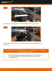 Wie der Wechsel durchführt wird: Scheibenwischer 1.5 (NHW2_) Toyota Prius 2 tauschen