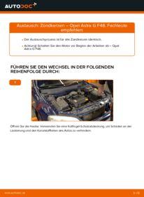 Wie der Wechsel durchführt wird: Zündkerzen 1.6 16V (F08, F48) Opel Astra G CC tauschen