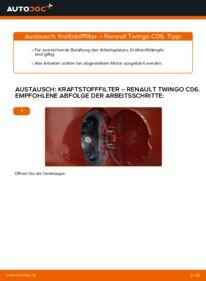 Wie der Wechsel durchführt wird: Kraftstofffilter 1.2 Renault Twingo Mk1 tauschen