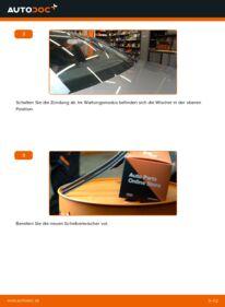 Wie der Wechsel durchführt wird: Scheibenwischer 2.0 TDI Audi A4 B8 tauschen