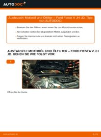 Wie der Wechsel durchführt wird: Ölfilter 1.4 TDCi Ford Fiesta Mk5 tauschen
