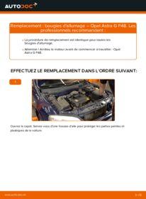 Comment effectuer un remplacement de Bougies d'Allumage sur 1.6 16V (F08, F48) Opel Astra G