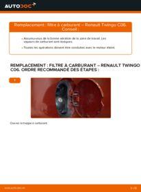 Comment effectuer un remplacement de Filtre à Carburant sur 1.2 Twingo c06