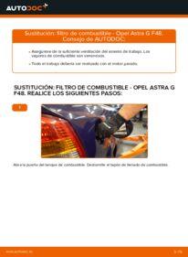 Cómo realizar una sustitución de Filtro de Combustible en un OPEL ASTRA