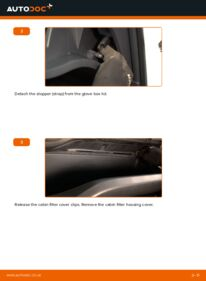 How to carry out replacement: Pollen Filter on 1.4 D-4D (NDE150_) Toyota Auris E15