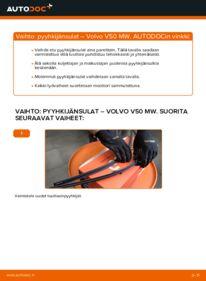 Kuinka vaihtaa Pyyhkijänsulat 2.0 D Volvo v50 mw -autoon