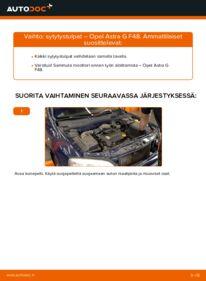 Kuinka vaihtaa Sytytystulpat 1.6 16V (F08, F48) Opel Astra g f48 -autoon