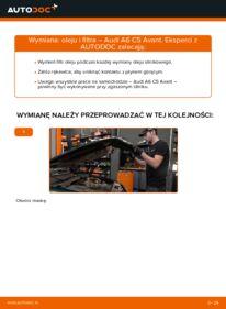 Jak przeprowadzić wymianę: Filtr oleju w AUDI A6