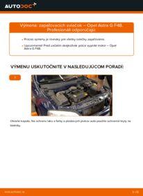 Ako vykonať výmenu: Zapalovacia sviečka na 1.6 16V (F08, F48) Opel Astra g f48