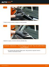 Ako vykonať výmenu: Stieracia liżta na 1.4 TDCi Ford Fiesta Mk5