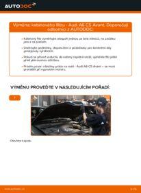 Jak provést výměnu: Kabinovy filtr na 2.5 TDI quattro Audi A6 C5 Avant