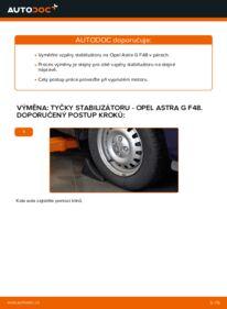 Jak provést výměnu: Zkrutna tyc na 1.6 16V (F08, F48) Opel Astra g f48