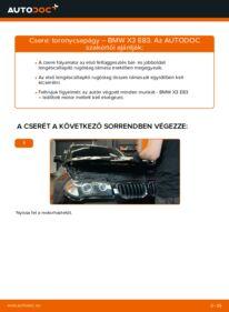 Hogyan végezze a cserét: BMW X3 Toronycsapágy