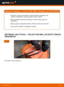 Kaip atlikti keitimą: 2.0 D Volvo v50 mw Valytuvo gumelė