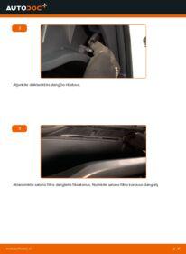 Kaip atlikti keitimą: 1.4 D-4D (NDE150_) Toyota Auris e15 Oro filtras, keleivio vieta