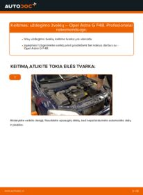 Kaip atlikti keitimą: 1.6 16V (F08, F48) Opel Astra g f48 Uždegimo žvakė
