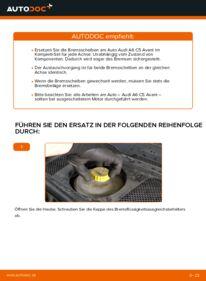 Wie der Wechsel durchführt wird: Bremsscheiben 2.5 TDI quattro Audi A6 C5 Avant tauschen