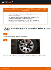 Wie der Wechsel durchführt wird: Stoßdämpfer 2.5 TDI quattro Audi A6 C5 Avant tauschen