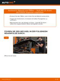 Wie der Wechsel durchführt wird: Ölfilter 2.5 TDI quattro Audi A6 C5 Avant tauschen