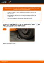 Cómo cambiar: bieletas de suspensión de la parte delantera - Audi A3 8PA | Guía de sustitución