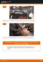 Como mudar escovas do limpa vidros da parte dianteira em Opel Corsa C - guia de substituição