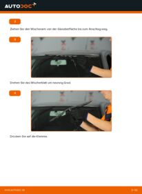 Wie der Wechsel durchführt wird: Scheibenwischer 1.9 TDI Skoda Octavia 1u tauschen