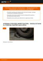 Poradnik krok po kroku w formacie PDF na temat tego, jak wymienić Poduszka Amortyzatora w SKODA OCTAVIA (1U2)
