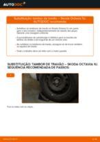 Descubra o nosso tutorial detalhado sobre como solucionar o problema do Tambor de freio traseiro e dianteiro SKODA