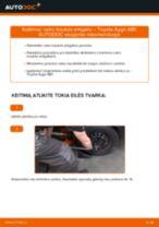 Skersinės vairo trauklės galas keitimas: pdf instrukcijos TOYOTA AYGO