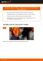 Kaip pakeisti ir sureguliuoti Įsiurbimo vamzdis, oro filtras SKODA OCTAVIA: pdf pamokomis