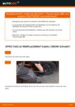 Comment changer : rotule de direction sur Toyota Aygo AB1 - Guide de remplacement