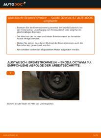 Wie der Wechsel durchführt wird: Bremstrommel 1.9 TDI Skoda Octavia 1u tauschen
