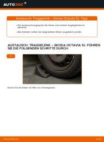 Wie der Wechsel durchführt wird: Traggelenk 1.9 TDI Skoda Octavia 1u tauschen
