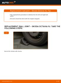 How to carry out replacement: Suspension Ball Joint on 1.9 TDI Skoda Octavia 1u