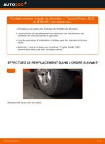 Comment effectuer un remplacement de Rotule De Direction sur 3.0 D-4D Toyota Prado J120