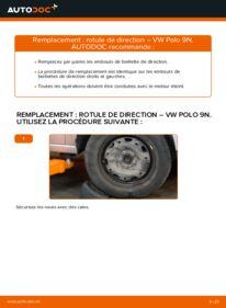 Comment effectuer un remplacement de Rotule De Direction sur 1.4 16V VW Polo 9n
