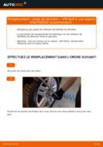 Notre guide PDF gratuit vous aidera à résoudre vos problèmes de VW VW Golf VI 2.0 TDI Bras de Suspension