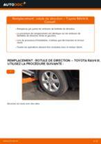 Comment changer : rotule de direction sur Toyota RAV4 III - Guide de remplacement