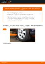 Kuinka vaihtaa raidetangon pää Volvo V70 SW-autoon – vaihto-ohje