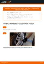 Doporučení od automechaniků k výměně VW Golf 6 2.0 TDI Lozisko kola