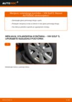 Kako zamenjati avtodel volanski končnik na avtu VW Golf 5 – vodnik menjave