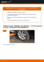 Mudar Rótula de direcção: instrução pdf para TOYOTA RAV4