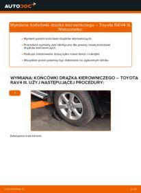 Jak przeprowadzić wymianę: Końcówka drążka kierowniczego poprzecznego w TOYOTA RAV4