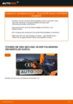 hinten + vorne Scheibenwischer AUDI A4 Avant (8ED, B7) | PDF Wechsel Tutorial