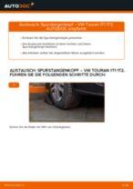 Wie Spurstangengelenk VW TOURAN austauschen und anpassen: PDF-Anweisung