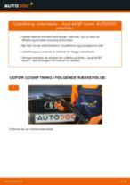 Udskift viskerblade for - Audi A4 B7 Avant   Brugeranvisning