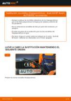Cómo cambiar: escobillas limpiaparabrisas de la parte delantera - Audi A4 B7 Avant | Guía de sustitución