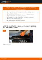 Byta kupéfilter på Audi A4 B7 Avant – utbytesguide